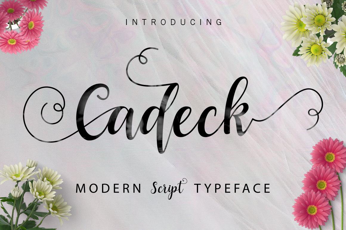 Cadeck script font fontlot.com
