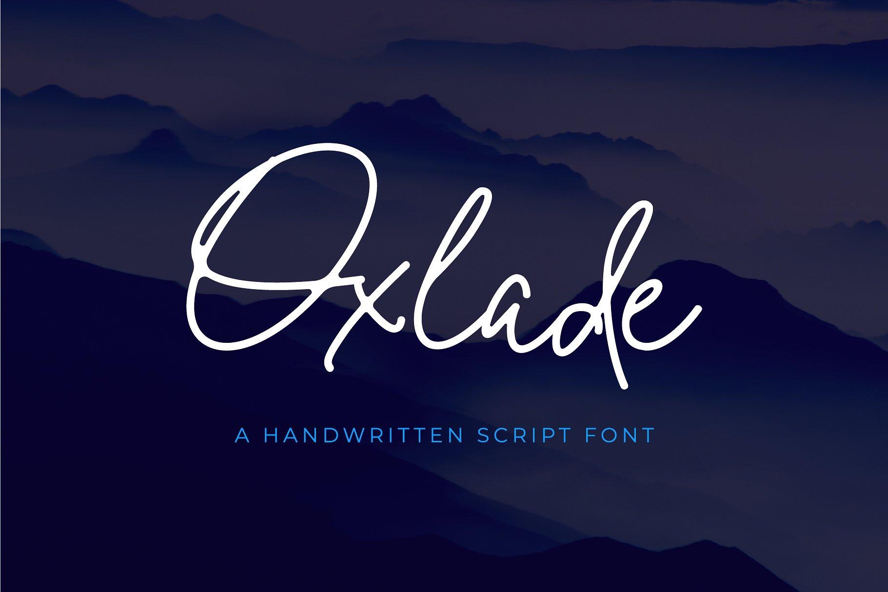 Oxlade Handwritten