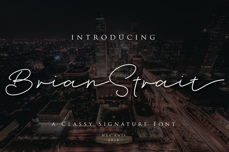 Brian Strait Handwriting