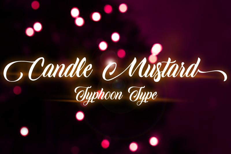 Candle Mustard Script