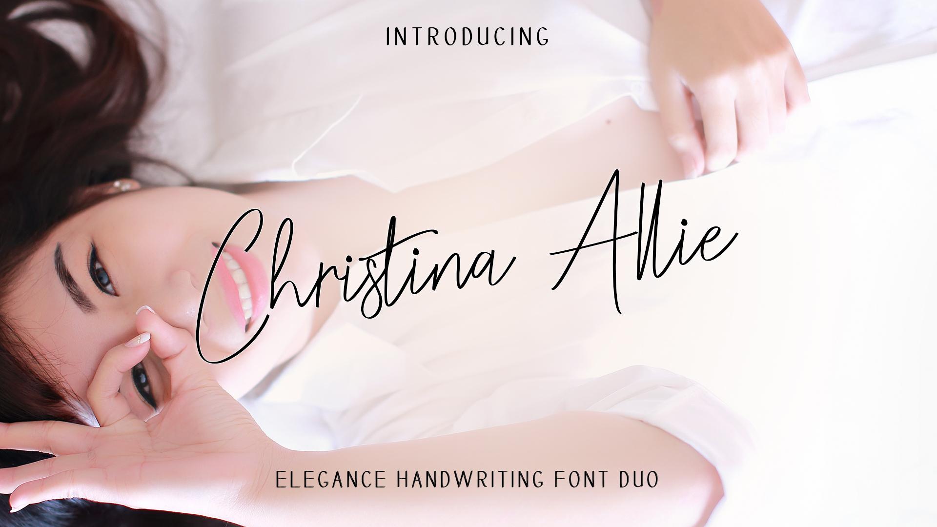 Christina Allie Handwriting