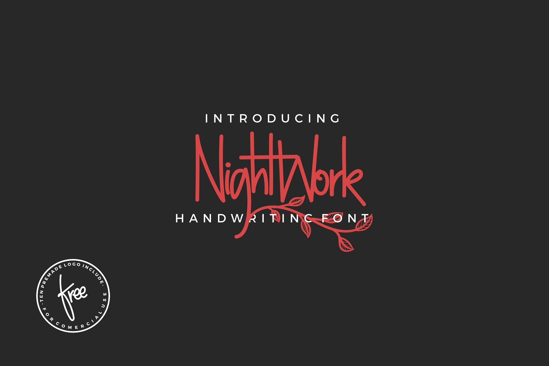 NightWork Handwriting