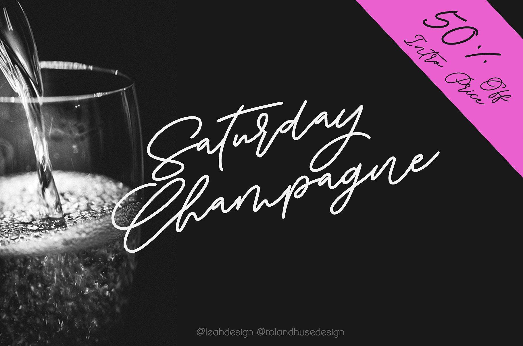 Saturday Champagne Script