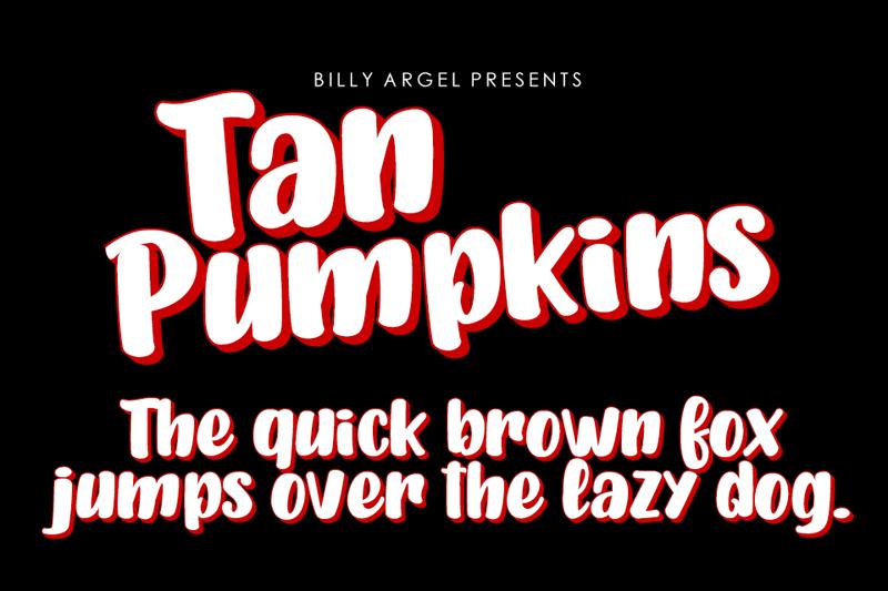 Tan Pumpkins Script