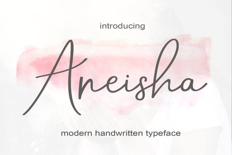 Aneisha Handwriting