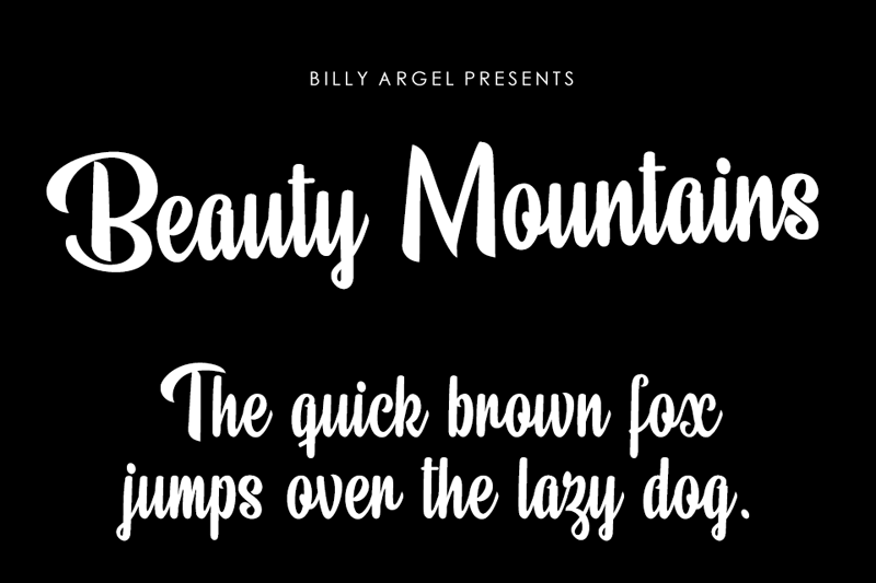 Beauty Mountains Script