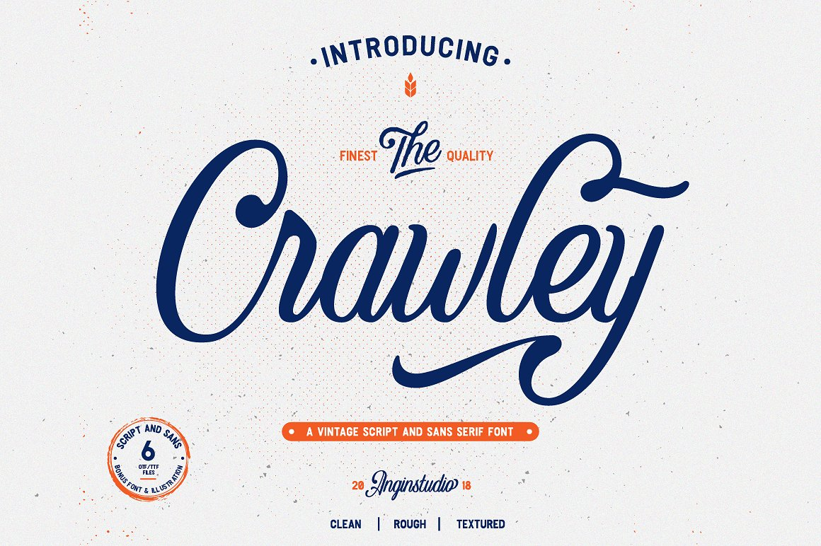 Crawley Vintage Script