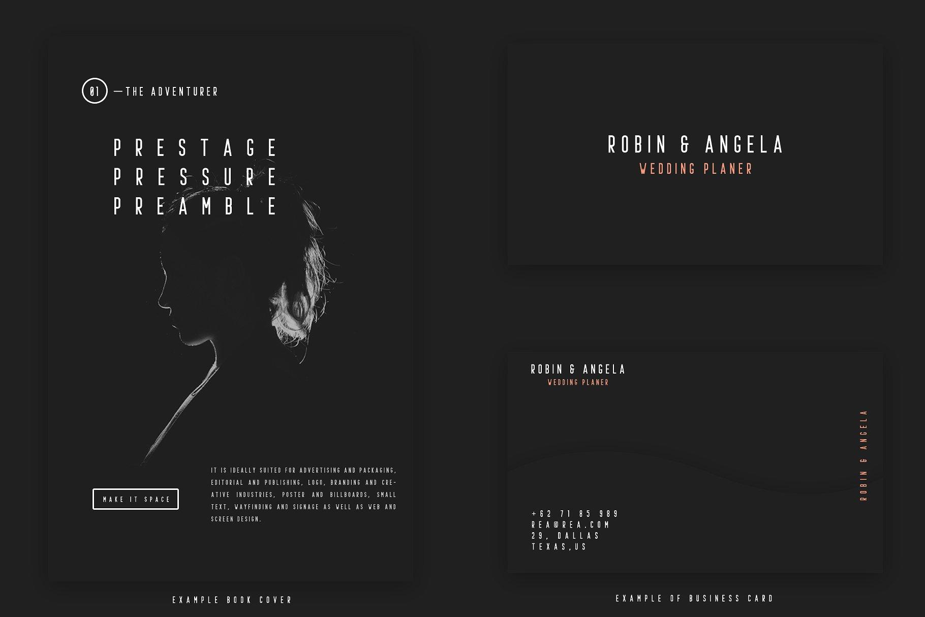 Prestage Typeface
