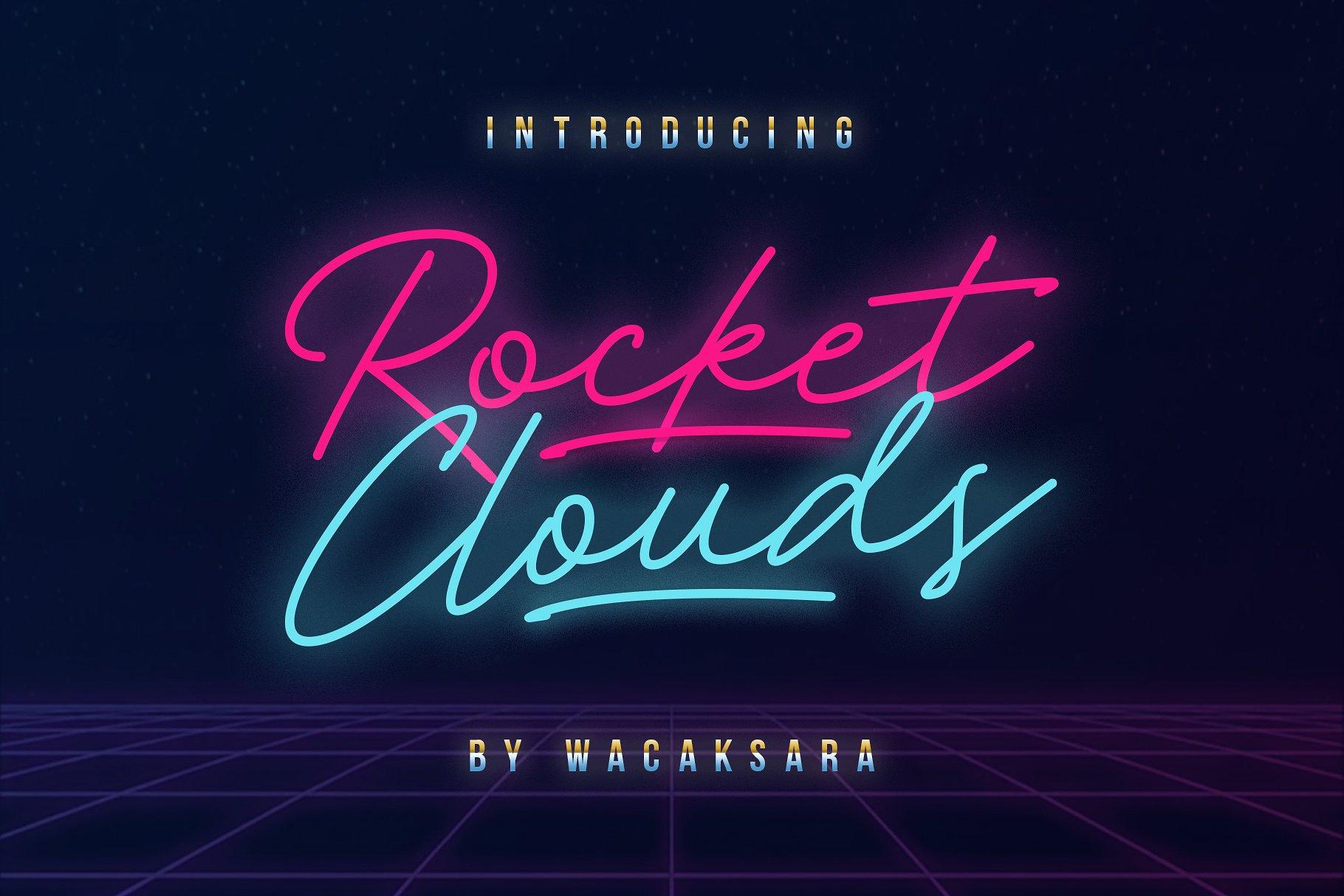 Rocket Clouds Handwriting