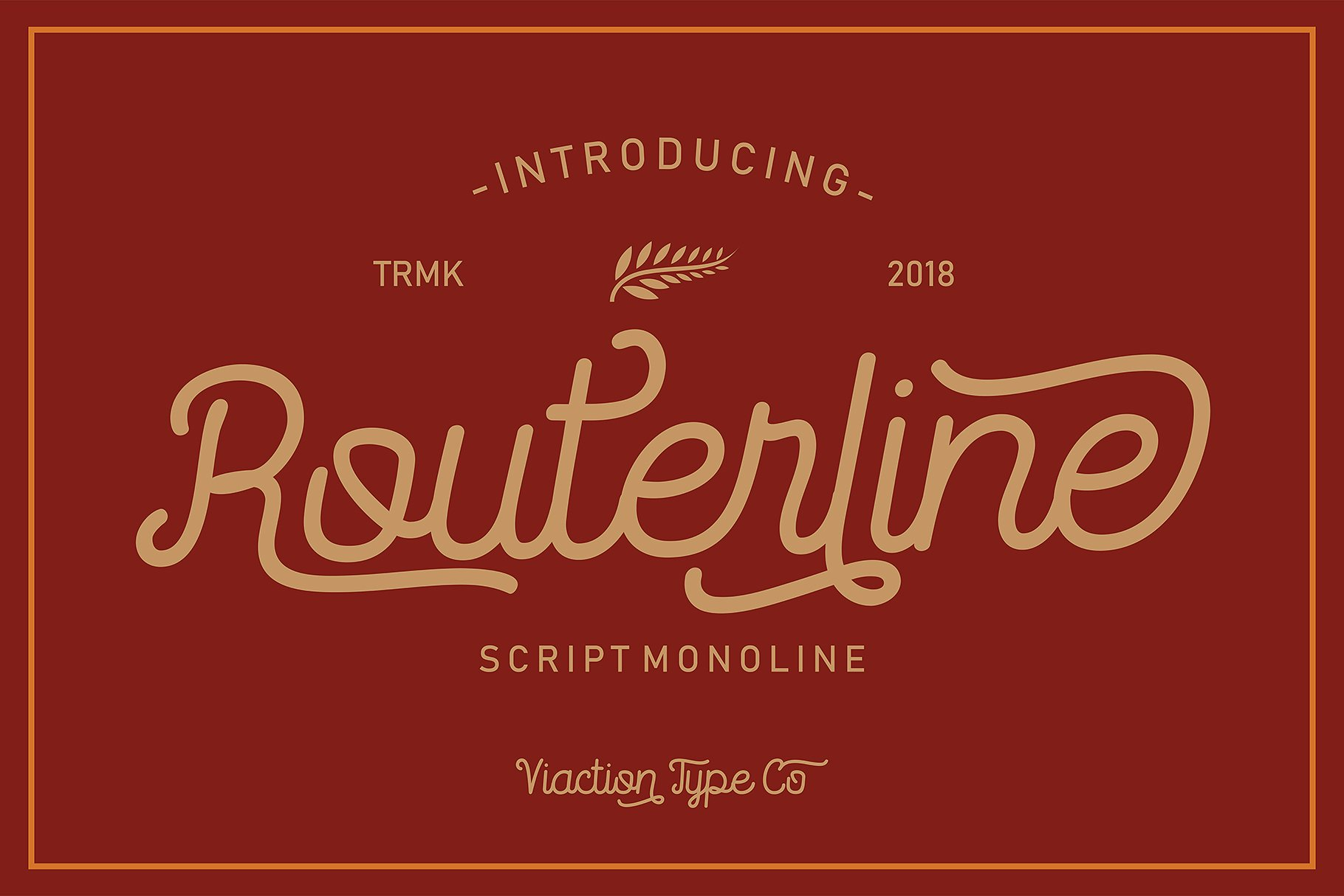 Routerline Typeface