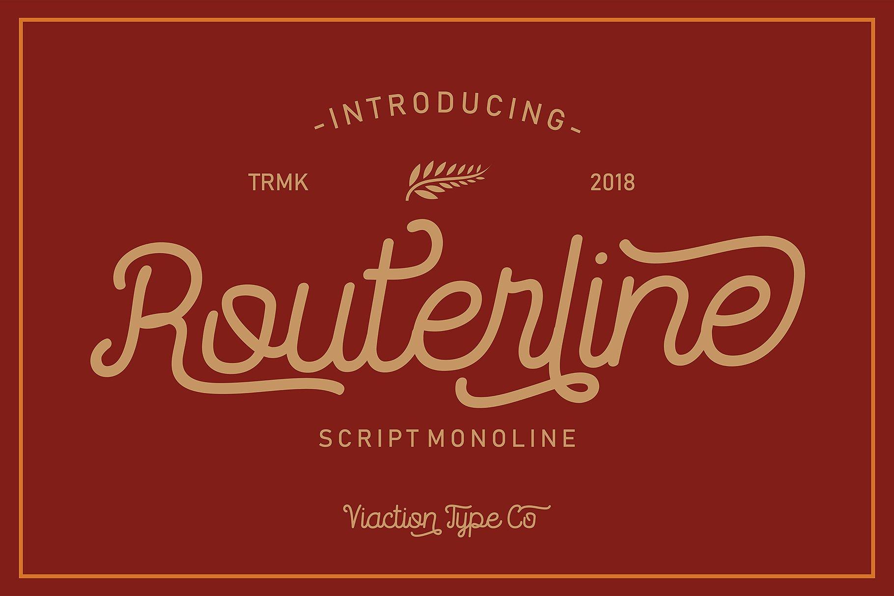 Routerline Typeface