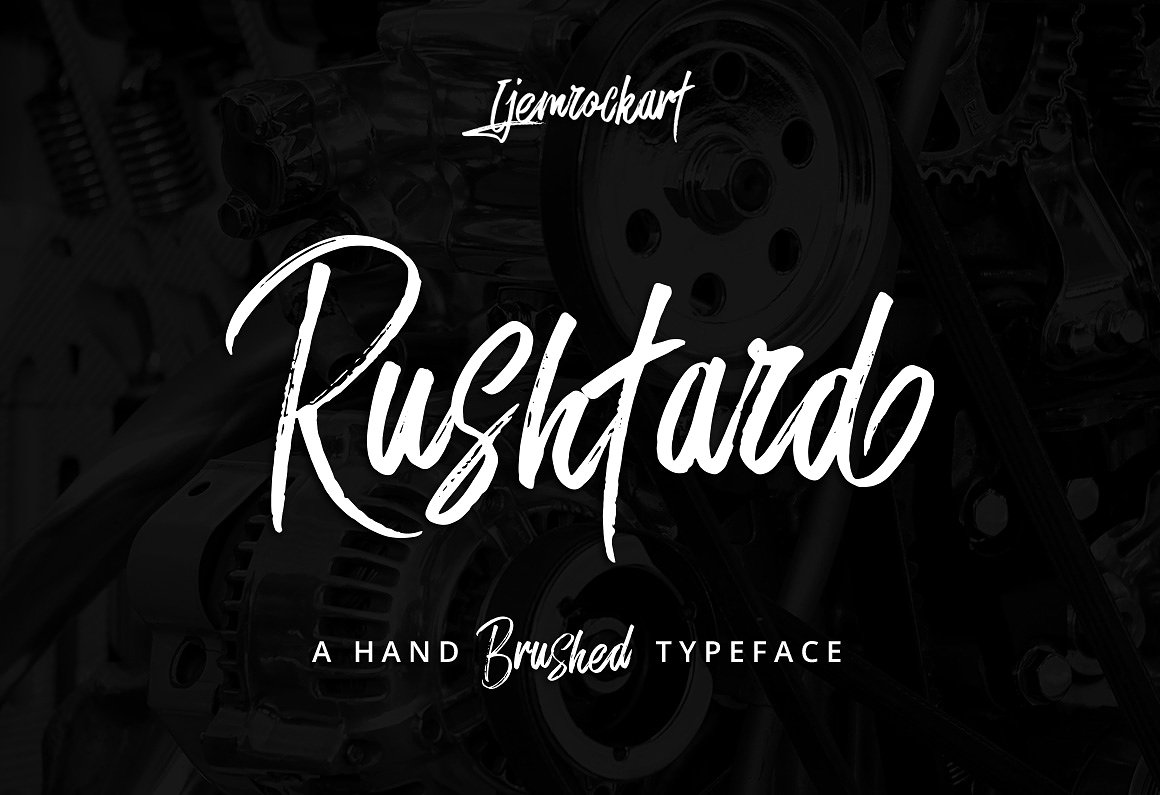 Rushtard Brush Font