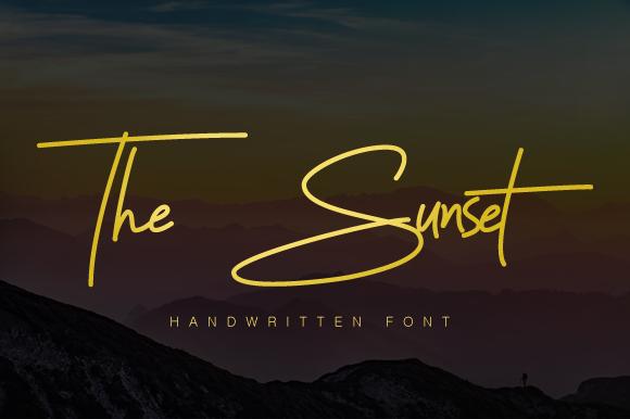 The Sunset Handwriting