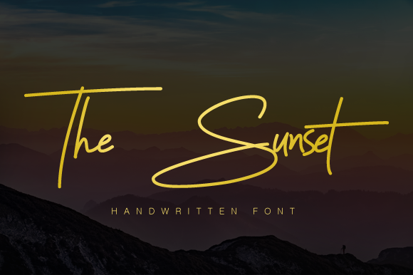 The Sunset Handwriting