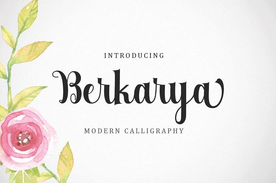Berkarya Script Font Modern Calligraphy