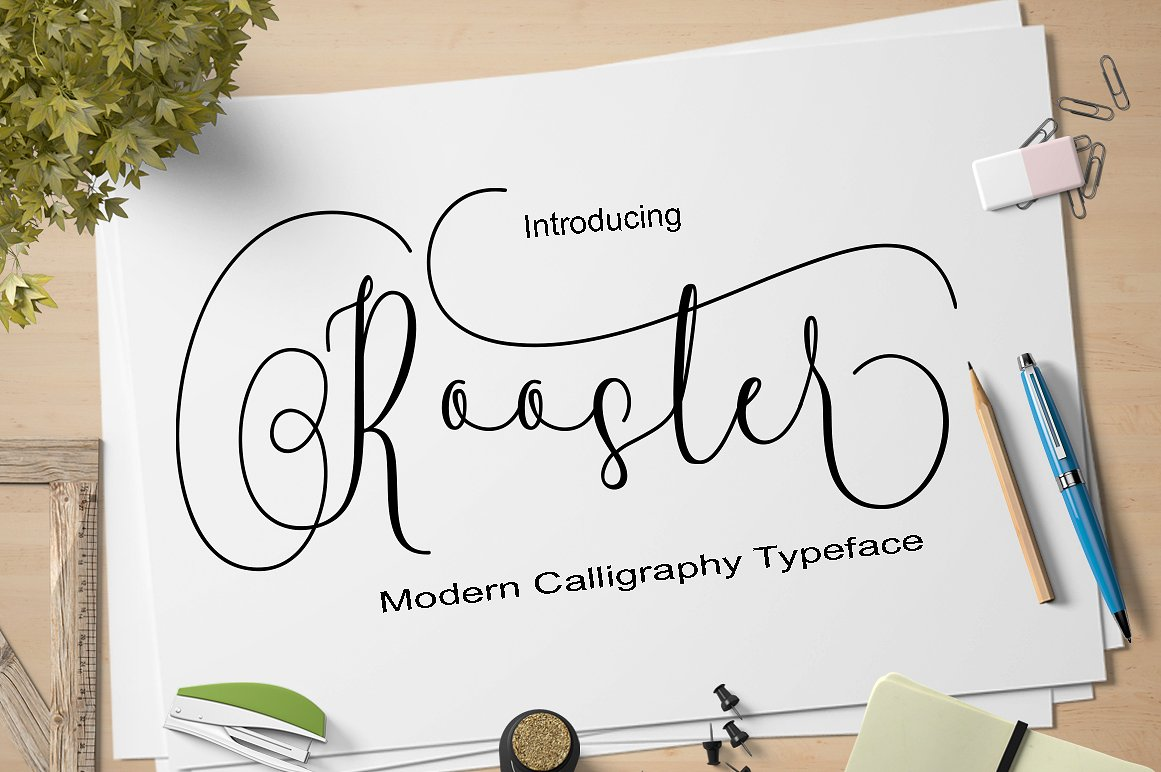 Rooster Calligraphy