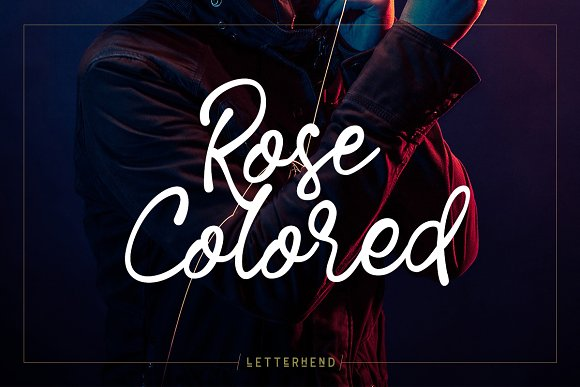 Rose Colored Script