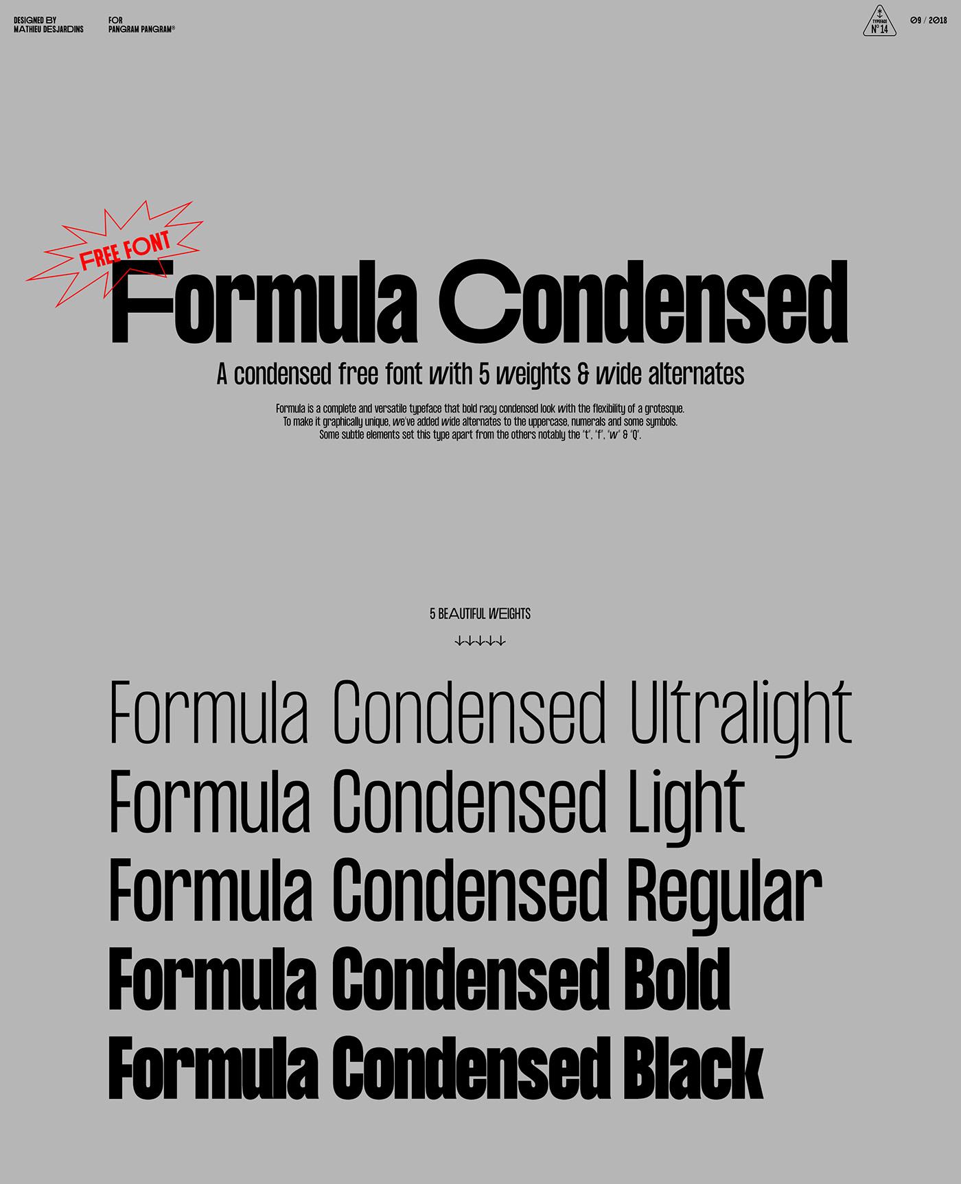 Black Condensed Font