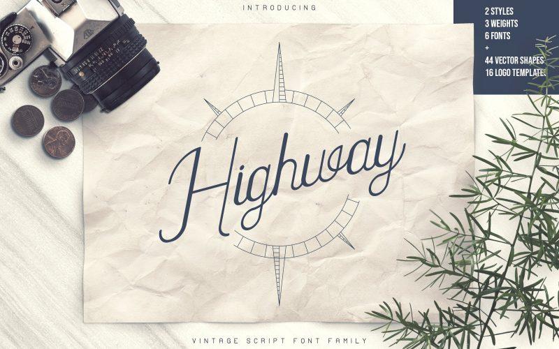 Highway Vintage Script Font - Fontlot com