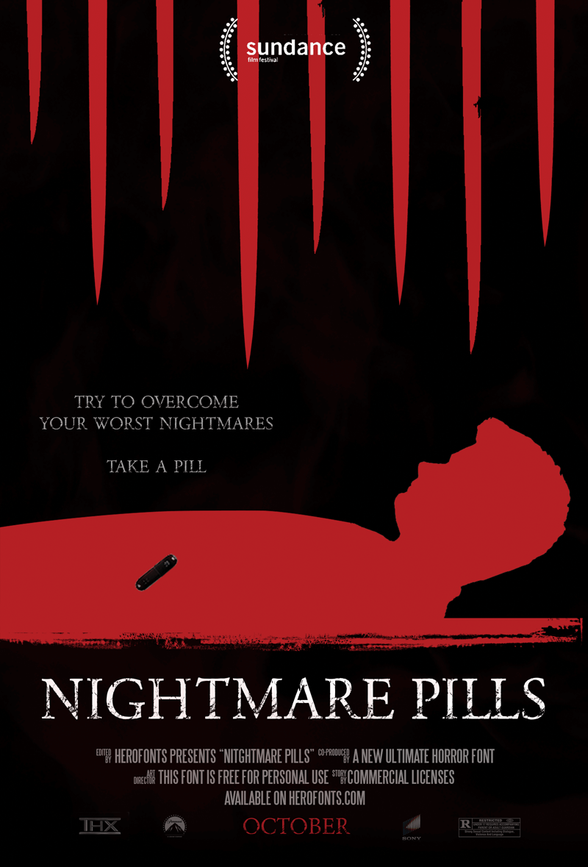 Nightmare Pills Typeface
