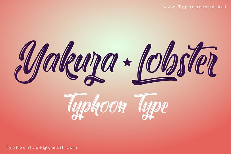 Yakuza Lobster Brush Font - Fontlot com