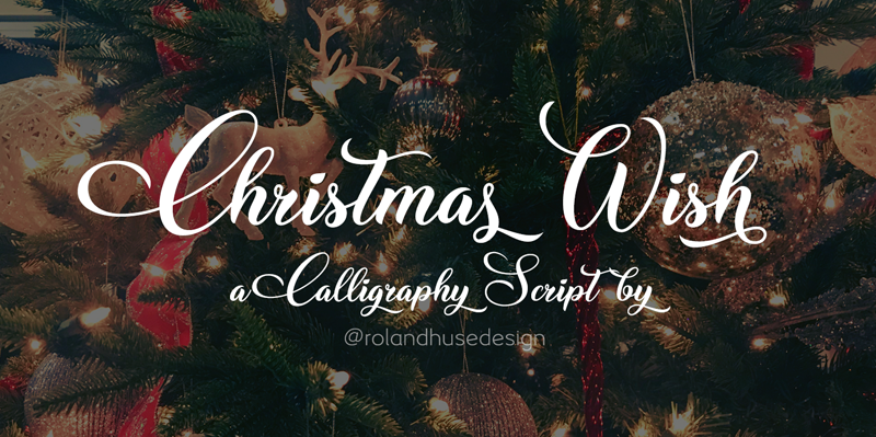 Christmas Wish Calligraphy Font - Fontlot com