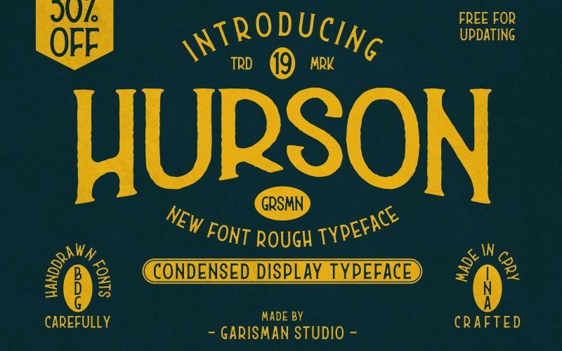 Hurson Retro Font - Fontlot com