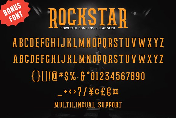 Rockstar Typeface - Fontlot com