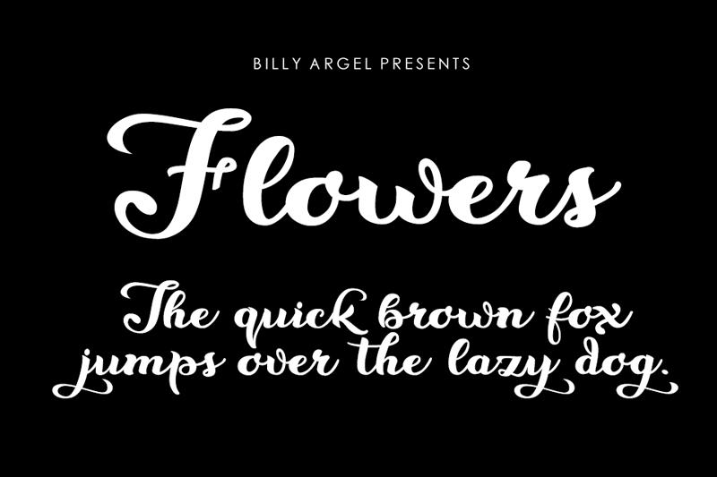 Flowers Script Font - Fontlot com
