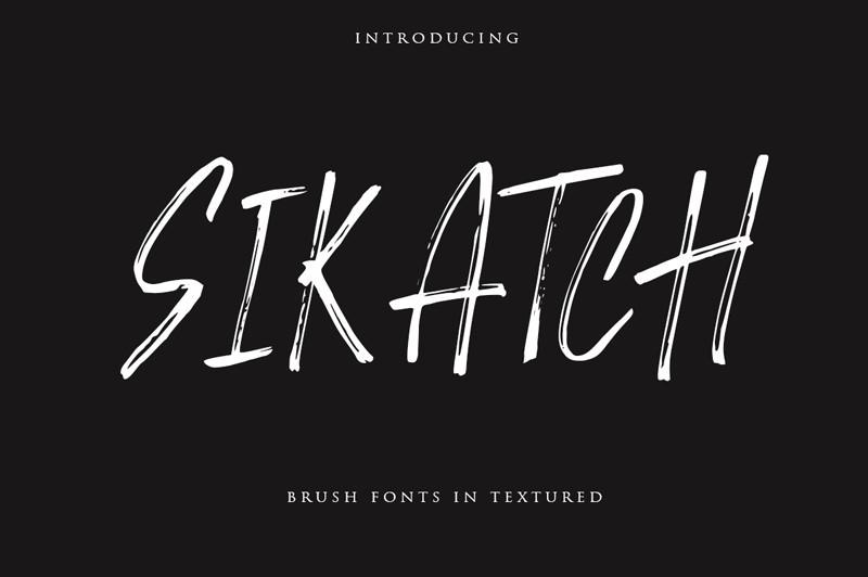 Sikatch Brush Font - Fontlot com