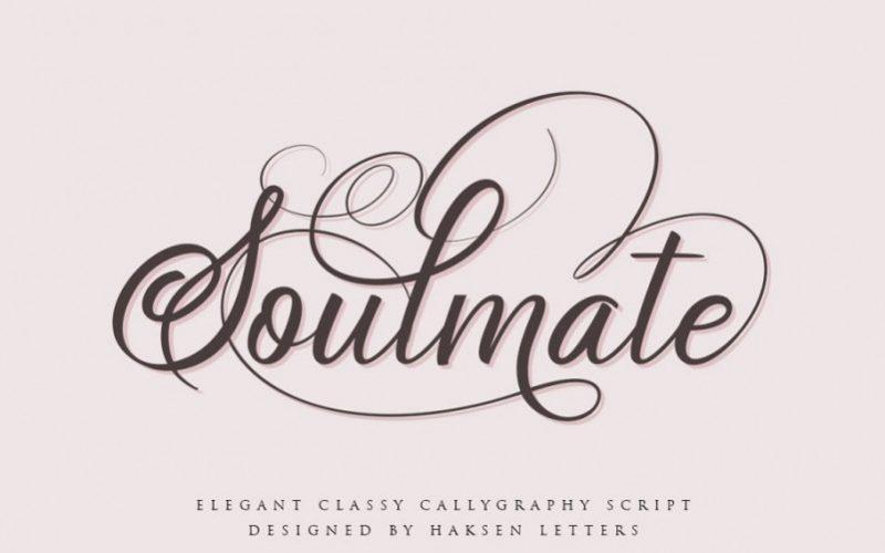Soulmate Script Font - Fontlot com
