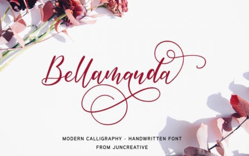 Bellamanda Calligraphy Font - Fontlot.com
